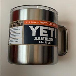 Yeti, Rambler, Silver, 14OZ, Mug, NWT